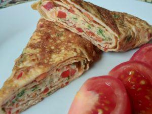 Рол яєчно-овочевий